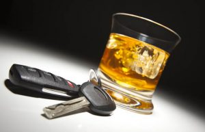 alcoholic drink and car keys